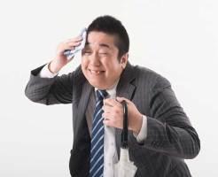 汗っかきの肥満男性イメージ