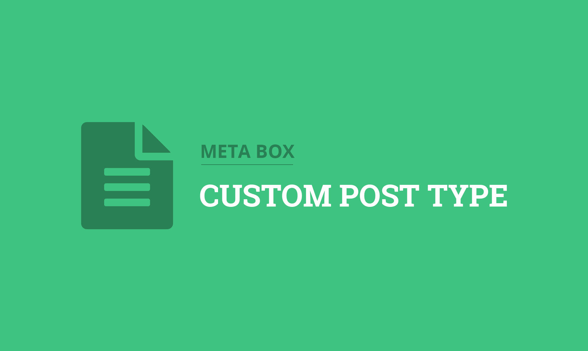 MB Custom Post Type