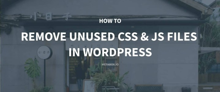 How to Remove Unused CSS and JavaScript Files in WordPress
