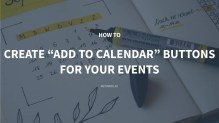 How to Create Add To Calendar Buttons for Your Events