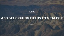 How to Add Star Rating Fields to Meta Box