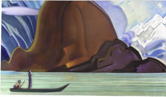 Картина Святослава Рериха. И мы приближаемся. 1967