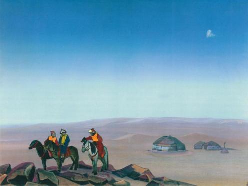 Картина Н.К.Рериха. Монголия I 1938