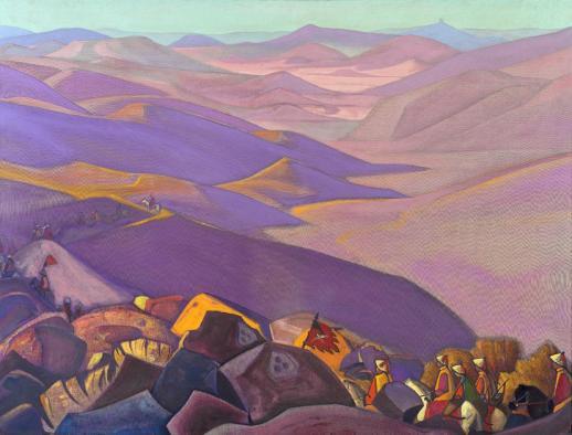 Картина Н.К.Рериха. Монголия II (Поход Чингис-хана) 1937 или 1938