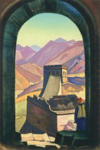 Картина Н.К.Рериха. Великая стена. Около 1935-1936