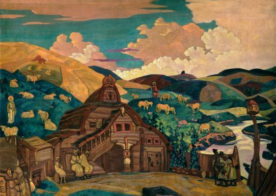 Картина Н.К.Рериха. Три радости 1916