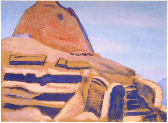 Картина Н.К.Рериха. Храм Бон-по 1928