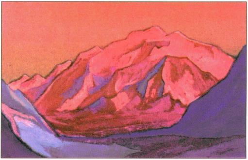 Картина Н.К.Рериха. Золотой трон. 1945