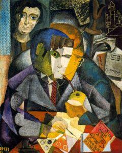 Retrato cubista de Ramón Gómez de la Serna