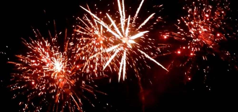Riesen Feuerwerk beim 2. Zwickauer Lichterzauber