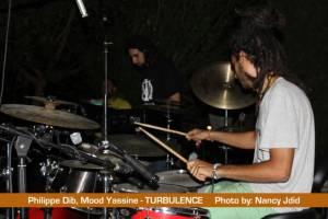 Philippe Dib (Drummer) & Mood Yassin (Keyboadrist) from TURBULENCE