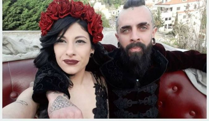 Goth Themed Wedding In Lebanon