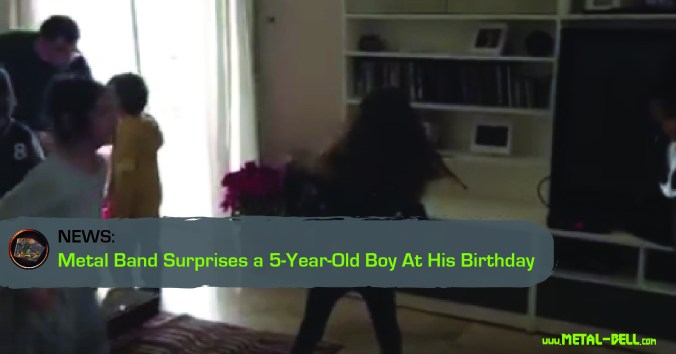 Metal Band Surprises a 5-Year-Old Boy At His Birthday