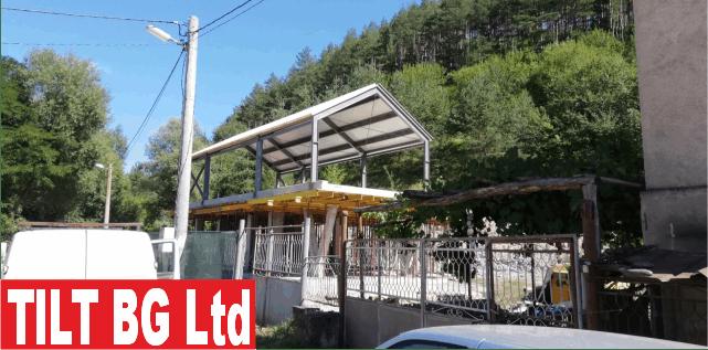 Строителство на къщa с метална конструкция.