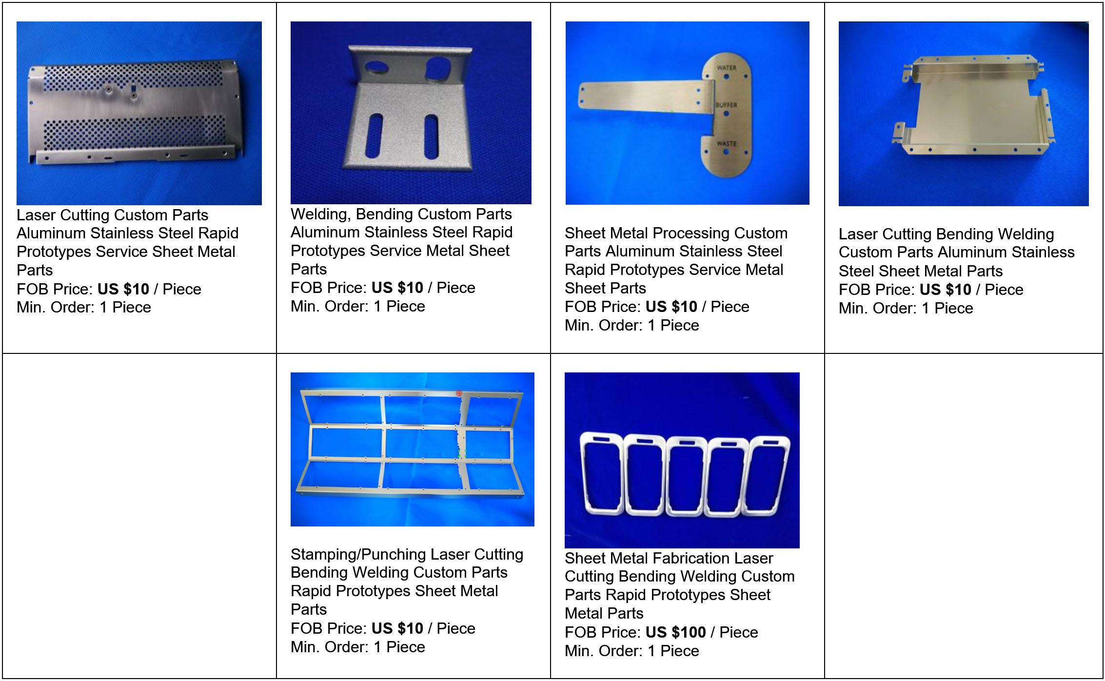 Priseksempler på Prototypeservice Pladebearbejdning