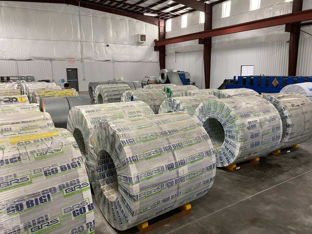 domestic steel coil inventory at CSM warehouse