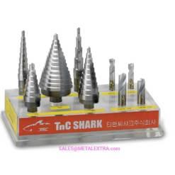 TNC-SHARK-Step-Drill-HSS-Cobalt-ø4mm-ø40mm-Metalextra-Indonesia