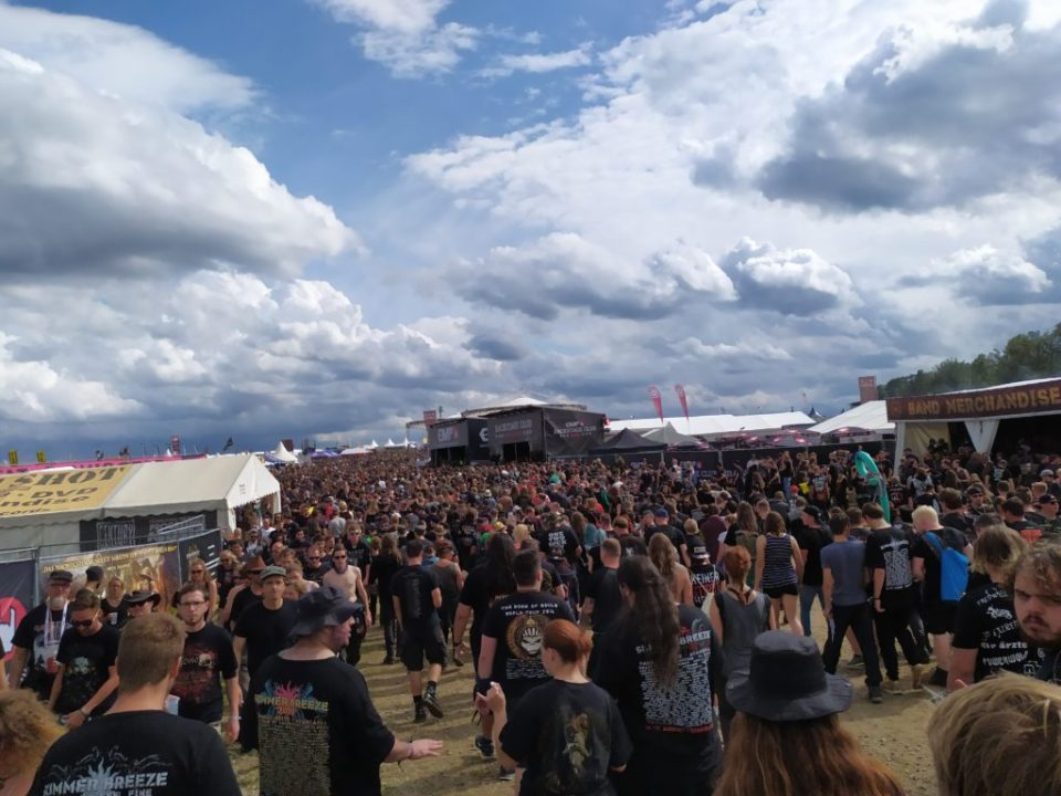 Photo de foule, sortant de la Mainstage