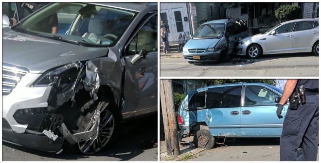 Car Accident on Ontario St in Cohoes on 8/24/17