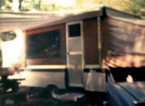 Pop-Up Camper at Scenic View Campground in Bolton Landing July 1983