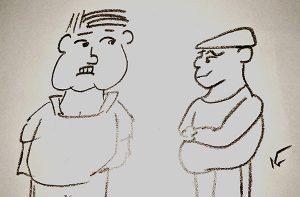 A couple quick cartoon sketches