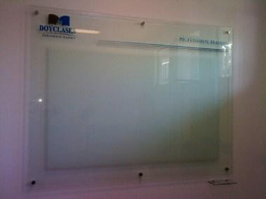 Pizarra en vidrio frost