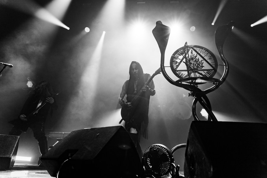 Behemoth playing black metal at Mtelus in montreal