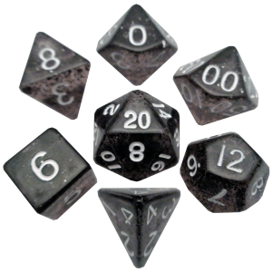 Ethereal Black Poly Dice Set