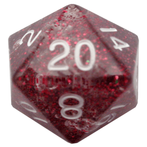 Ethereal Light Purple 35mm Mega Acrylic d20