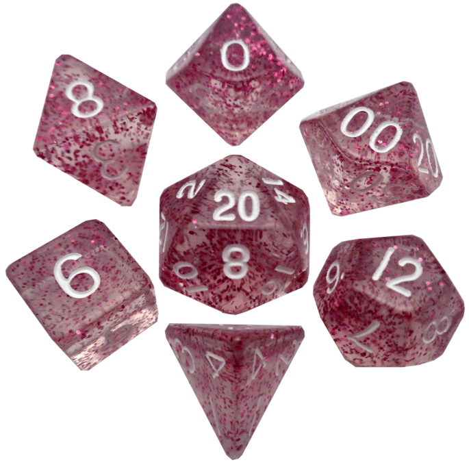 Ethereal Light Purple Poly Dice Set