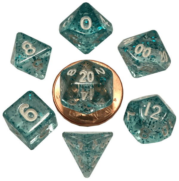 Ethereal Light Blue Mini Poly Dice Set