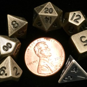Gold Metal Mini Dice