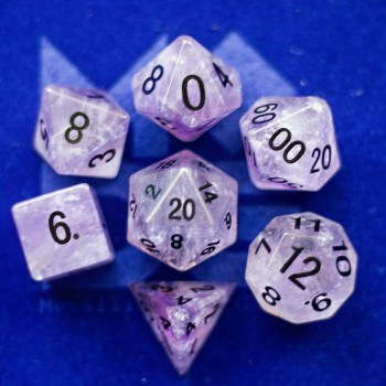 Amethyst: Full-Sized 16mm Polyhedral Set