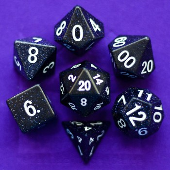 Blue Sandstone: Full-Sized 16mm Polyhedral Set