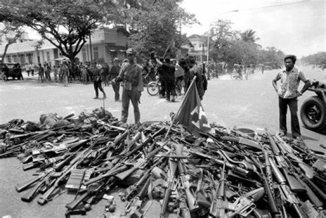 Cambodia weapon collection 1976.