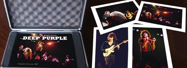 """Deep Purplelta joululahjaksi """"For One Night Only"""" kirja Knebworthista 1985"""