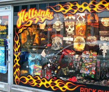 Kivijalkamyymälä Hellsinki Rock Shop lopettaa toimintansa