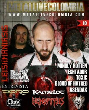Edición 10 revista Virtual Metal Live Colombia