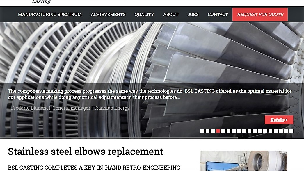 http://www.bslcasting.com/en/achievement/stainless-steel-elbows-replacement/