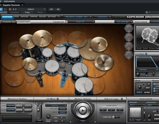 Toontrack Superiod Drummer programmed fake drums