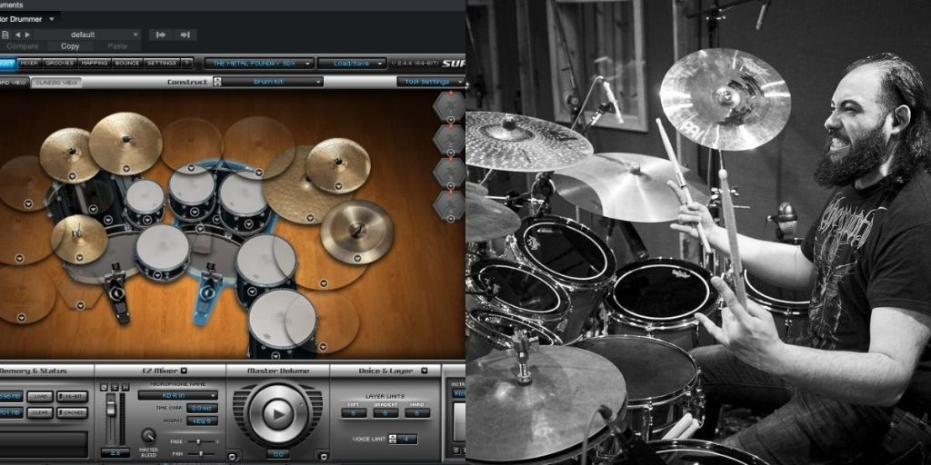 fake vs real drums
