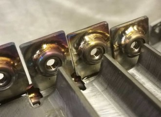 Tig welded floating fasteners on stainless base metal