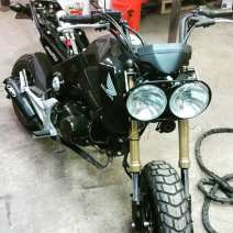 Honda Grom with Ruckus Headlight