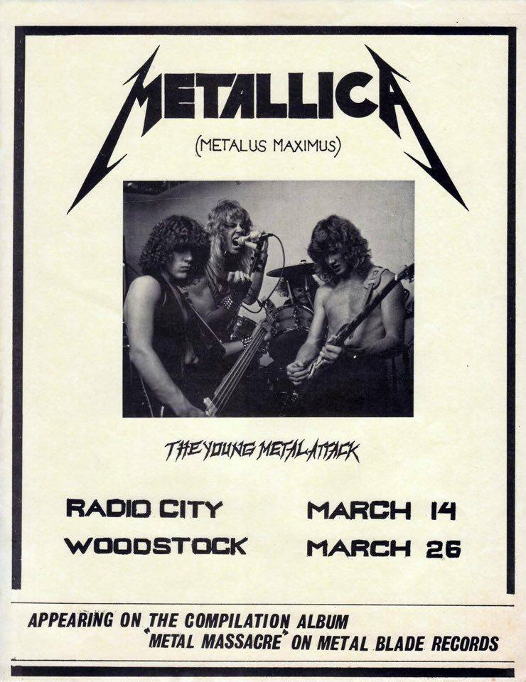 Metallica Plays Their Very First Concert March 14, 1982