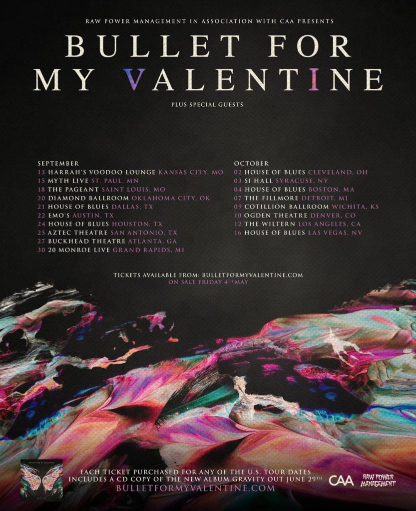 BULLET FOR MY VALENTINE Reveals US Tour Dates For Fall