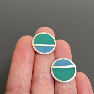 MOD STRIPE post earrings