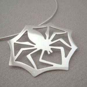 BLACK WIDOW spider pendant