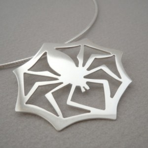 BLACK WIDOW spider pendant