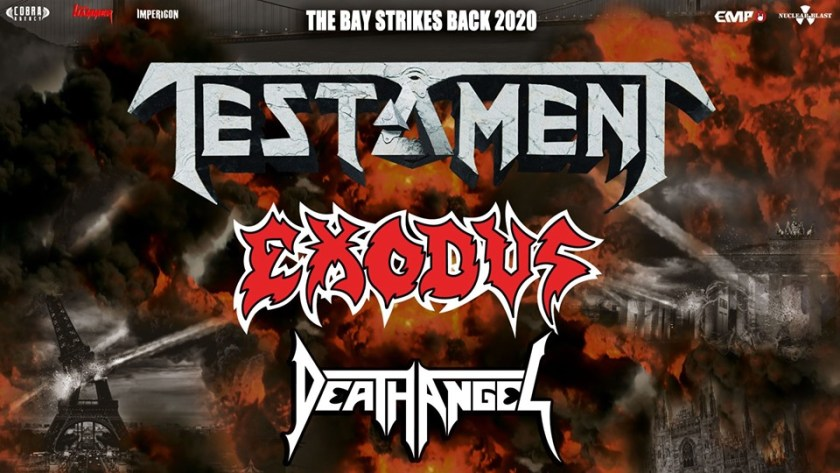 Puddle Of Mudd Tour 2020 TESTAMENT + EXODUS + DEATH ANGEL | team up for the 'Bay Strikes
