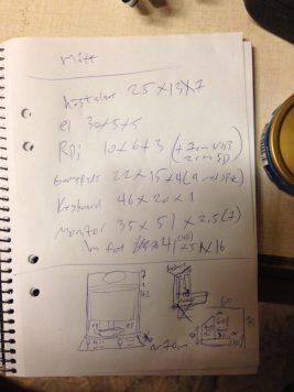 Arcade cabinet: measurements and design